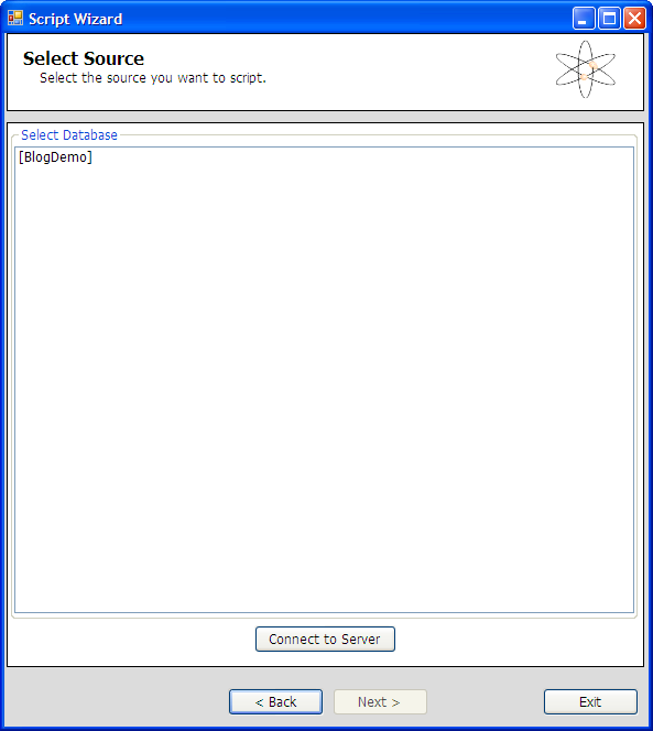 SQL Azure Migration Wizard - Quelldatenbank