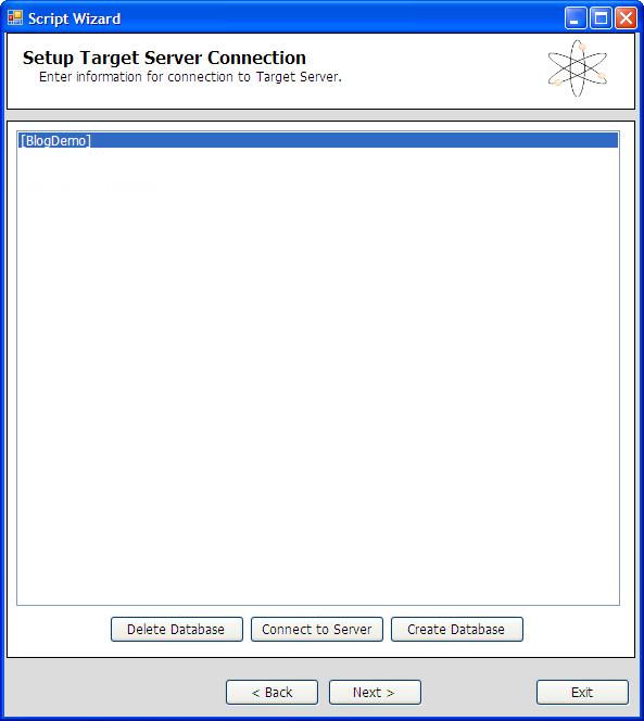 SQL Azure Migration Wizard - Zieldatenbank