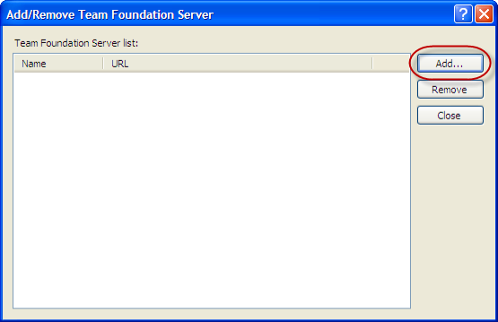 Visual Studio 2010 - Add/Remove Team Foundation Server