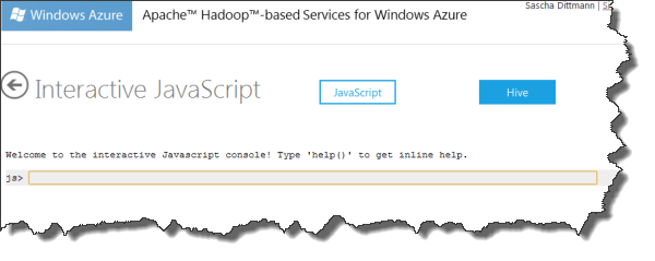 Azure Hadoop - Interaktive Konsole