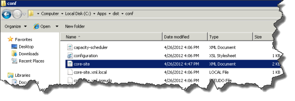 Azure Hadoop - Hadoop Konfigurationsdateien