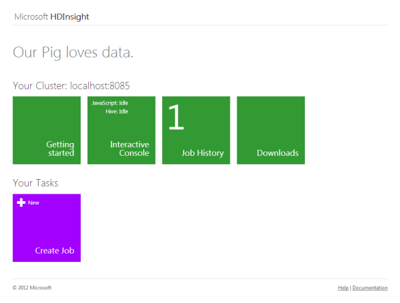 Microsoft HDInsight Dashboard