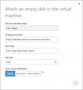 Attach empty disk