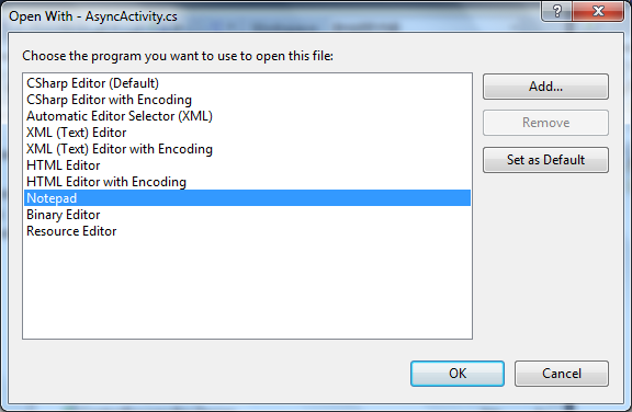 TFS Power Tools 2010 (Sep. Release) - 'View With...' Dialog