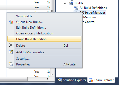 TFS Power Tools 2010 (Sep. Release) - 'Clone Build Definition' Context Menu