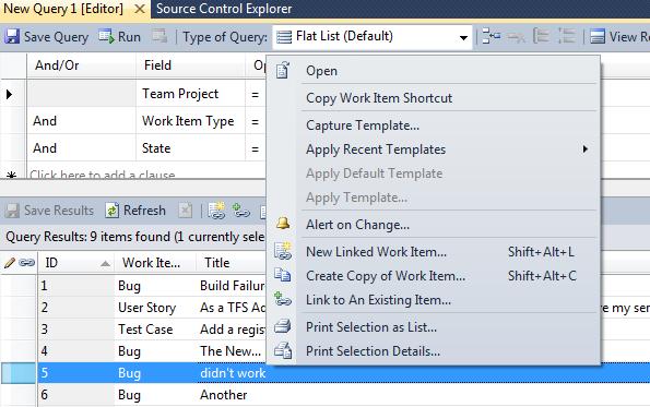 TFS Power Tools 2010 (Sep. Release) - Copy Work Item Shortcut' Context Menu