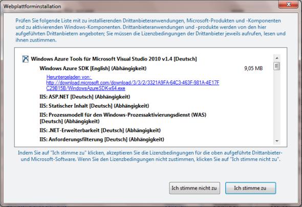 Microsoft Web Platform Installer - Zusammenfassung