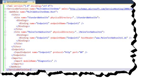 ServiceDefinition.csdef (mit Webseiten)