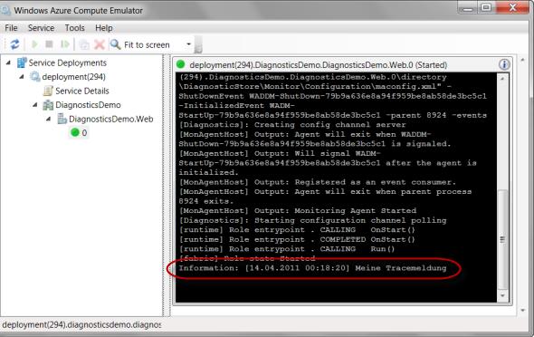 Windows Azure Compute Emulator UI