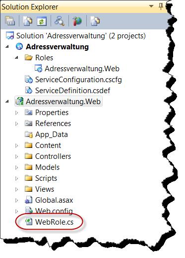 Solution Explorer - Projektdateien