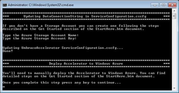 Windows Azure Accelerator für Umbraco - StartHere.cmd Skript (Teil 1)