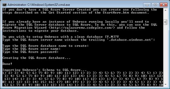 Windows Azure Accelerator für Umbraco - StartHere.cmd Skript (Teil 2)