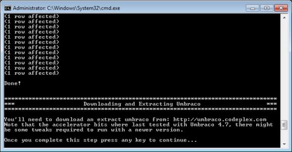 Windows Azure Accelerator für Umbraco - StartHere.cmd Skript (Teil 4)