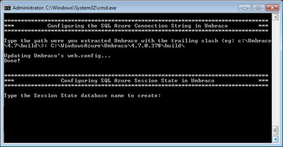 Windows Azure Accelerator für Umbraco - StartHere.cmd Skript (Teil 5)