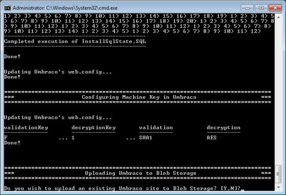 Windows Azure Accelerator für Umbraco - StartHere.cmd Skript (Teil 7)