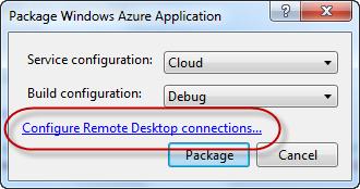 Package Windows Azure Application