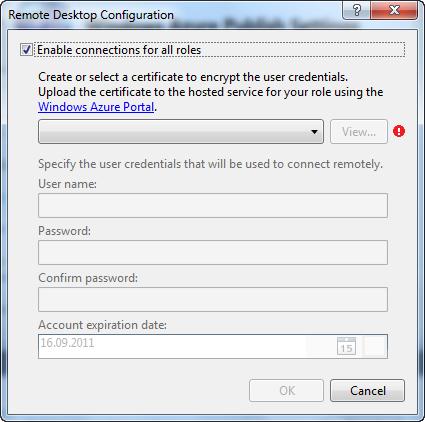 Remote Desktop Configuration