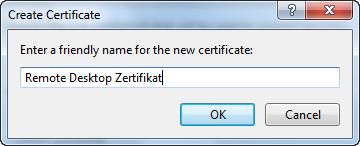 Remote Desktop Configuration - Set Certificate Name