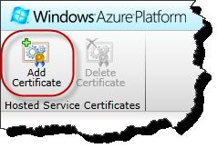 Windows Azure Portal - Add Certificate