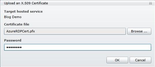 Windows Azure Portal - Upload Certificate