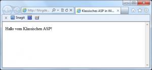 Screenshot der Default.asp