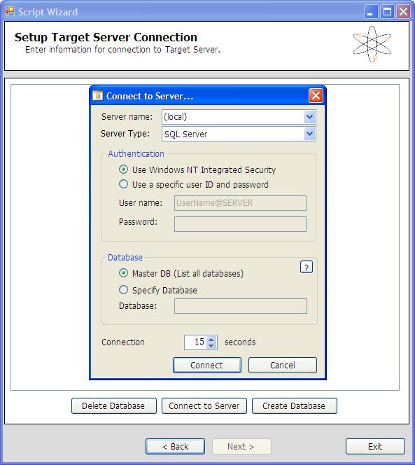 SQL Azure Migration Wizard - Zielserver