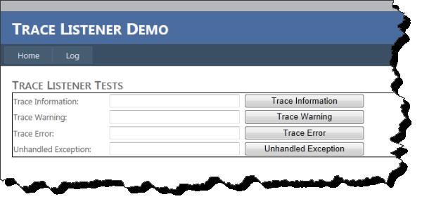 Trace Listener Test Seite