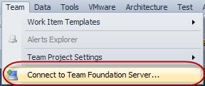 Visual Studio 2010 - Team Menüpunkt