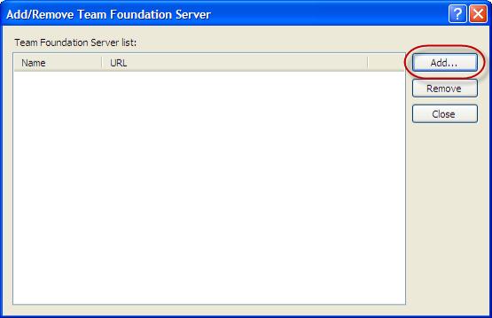 Visual Studio 2010 - Add/Remove Team Foundation Server