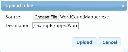 Azure Hadoop - Upload a file