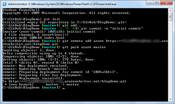 Git Shell - Add Remote Repository and Push Changes