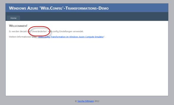 Web Rolle - Vor den Änderungen