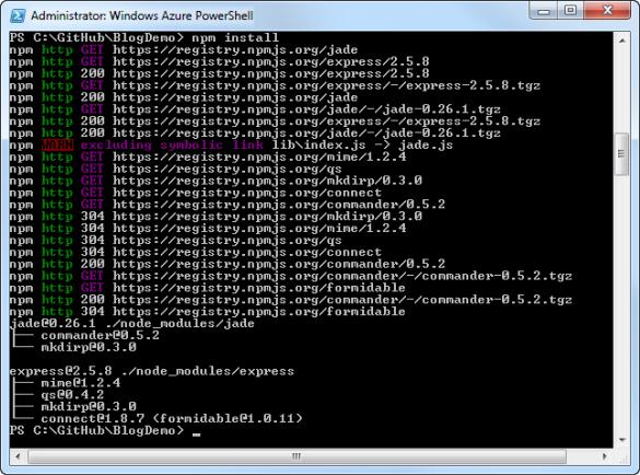Windows Azure PowerShell - Abhängige Module installieren