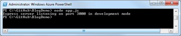 Windows Azure PowerShell - Node.js Applikation starten