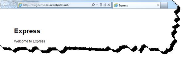 Windows Azure Node.js Applikation