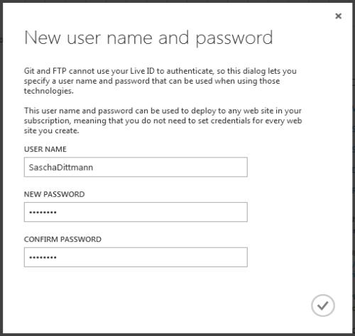 Windows Azure Web Site - Setup Git