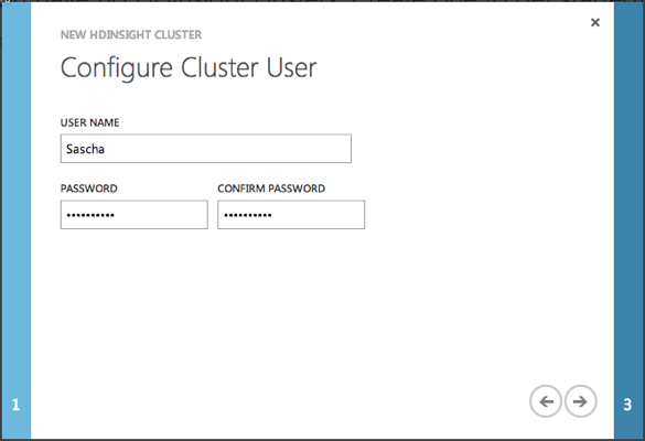 Windows Azure HDInsight Installation Wizard - Step 2