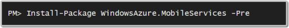 NuGet - WindowsAzure.MobileServices