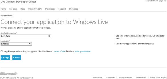 Live Connect Developer Centers - Basic Information