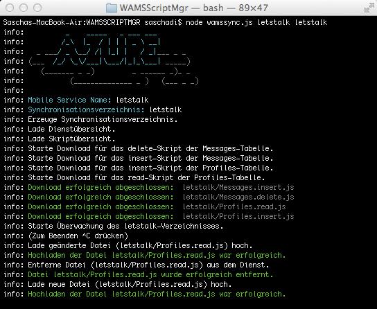Windows Azure Mobile Services - Synchronisationsskript