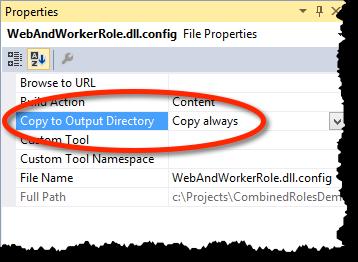 Datei-Eigenschaften der Konfigurationsdatei