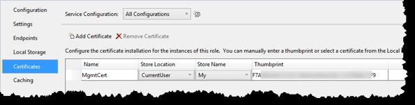 Die Zertifikate der Cloud-Configuration