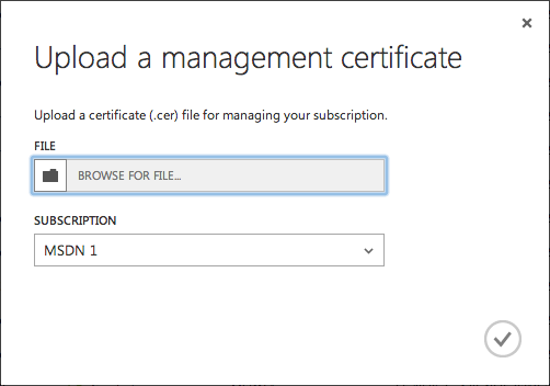 Upload a Management Certificate