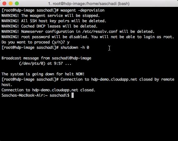 Deprovision Linux VM