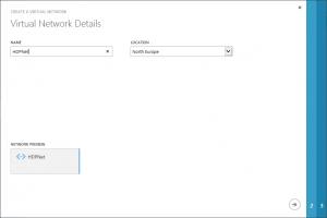 Virtuelles Netzwerk - Name und Rechenzentrum
