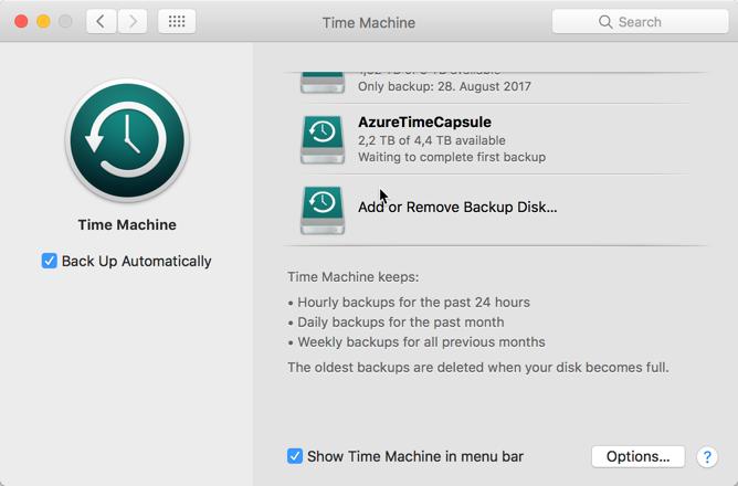 Sparse-Bundle in der Time Machine